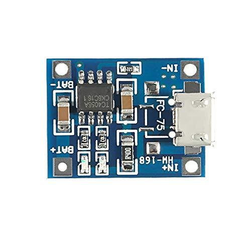 LTH-GD Módulo de alimentación Módulo de Carga 5V Micro USB 1A 18650 batería de Litio de Carga Junta con la protección del módulo Cargador Módulo regulador de Voltaje DC