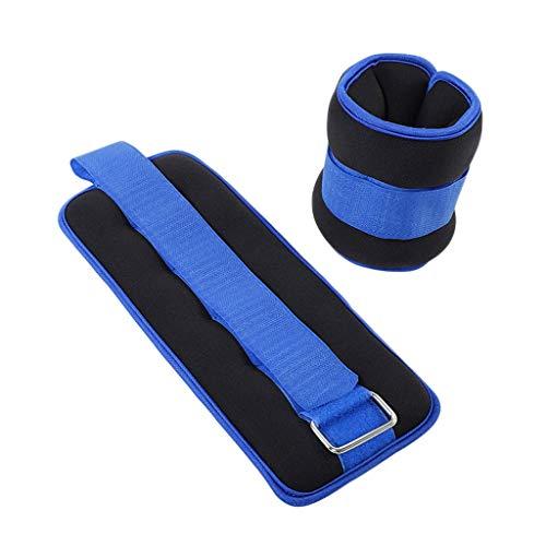 Pesas de muñeca Pesas de tobillo Pesos de tobillo / muñeca con correa ajustable para ejercicio de fitness caminando para correr aerobics de gimnasia, gimnasio de yoga Entrenamiento de fuerza antidesli