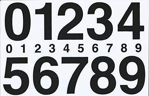 (シャシャン)XIAXIN 防水 PVC製 数字 ナンバー ステッカー セット 耐候 耐水 ローマ字 数字 キャラクター 表札 スーツケース ネームプレート ロッカー 屋内外 兼用 TS-534 (ブラック)