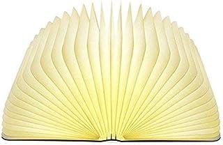 超人気ブックライト LEDベッドサイドランプ 本型 照明 卓上ライト 本型ライト 折畳み式インテリア 間接照明 2色調光 子供安全素材 高級感漂うプレゼント USB充電コード付き サイズ:21.5x16x2.5cm