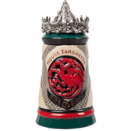 Game of Thrones House Targaryen Beer Stein - Hand Painted Ceramic Base...