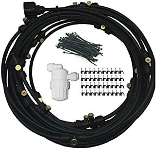 6/9/12/15/18M System Outdoor Misting Cooling System Kit for Greenhouse Garden Patio Waterring Irrigation Mister Line (black-9m)