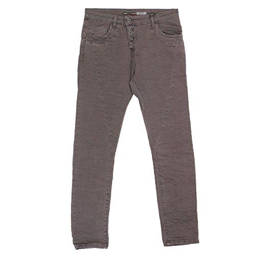 Please, Slim, Damen Jeans Hose, Twill Stretch, Dark Chocolat, XS Inch ca. 28 L 32 [19585]