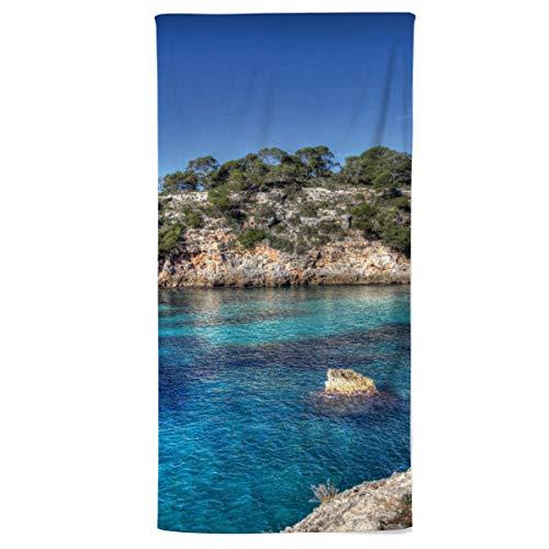 fotobar!style Handtuch 50 x 100 cm Mallorca Cala Pi Impressionen