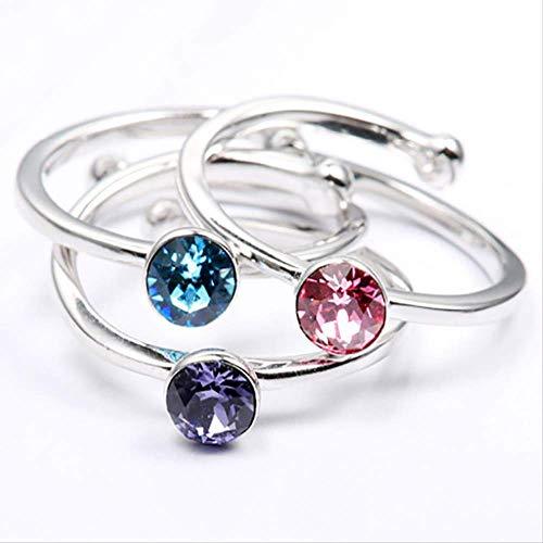IWINO 925 zilveren ring met ronde creatieve aquamarijn edelsteen voor charme vrouwen fijne sieraden huwelijksgeschenk groothandel