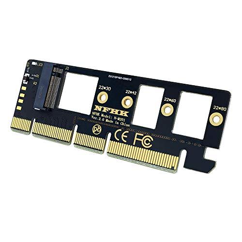 Kaxofang Tarjeta de ExpansióN M.2 NVMe SSD una PCIe 3.0 X16 / X8 / X4 Soporte de Tarjeta Adaptadora SSD de Escritorio 2230 2242 2260 2280 Tamaao SSD