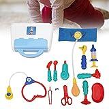 SALALIS Doctor Playset, Juguete de Herramienta de Doctor de Aparato Real para Bricolaje Entre Padres e Hijos para bebés(13-Piece Doctor'S Tool Set)