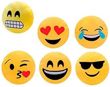 Lote de 24 CojiNES Emoticonos 32 Cm Emojis - Regalos y Recuerdos Originales niños Bodas, Fiestas Cumpleaños, Comuniones