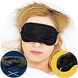 Sleep Mask - Custom Contouring 100% Blackout Eye Mask - Comfortable Black Sleeping Blindfold with Adjustable Strap for Men and Women