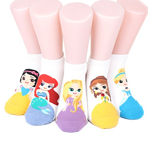 Disney Princess Sneakers Women's Socks 6 pairs Made in Korea