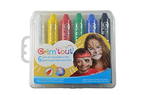 GRIM'TOUT- 6 Sticks de Maquillage à l'eau pour enfant - GT41884