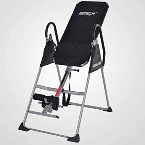 AJH Schwerkrafttrainer/Inversionstisch Kann den Klapptisch klappen/Das Stützgewicht beträgt 150 kg Verhindert Rückenschmerzen und Muskelverspannungen. Heimrudergeräte Rudergerät