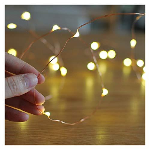 DZHT 2M LED LED luces de cadena con batería alambre de plata Cuento de hadas de cuento de hadas de la Navidad luces al aire libre de la cadena de la cadena de la boda de la boda decoración