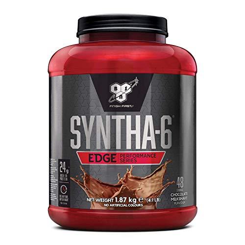 BSN Syntha 6 Edge Low Carb Integratore Proteine in Polvere, con Whey Proteine Isolate, Micellar Casein, con Glutamina e Amino Acids, Milkshake al Cioccolato, 1.87 kg, 48 Porzioni