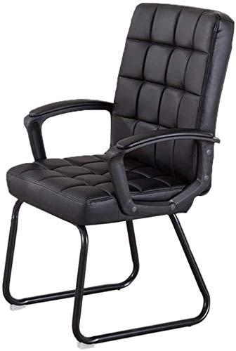 Silla de estudiante, silla de poliuretano, cómoda, fácil de limpiar, silla de oficina, silla de ordenador, silla de recepción, silla de hogar (color negro)