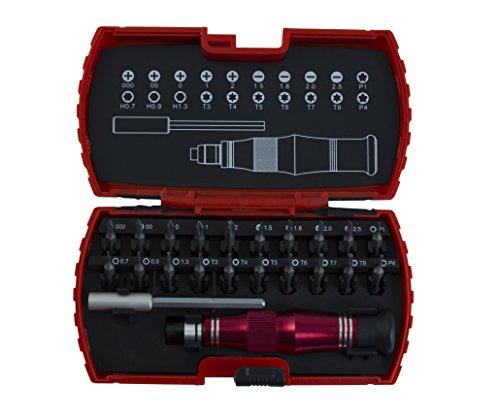 Krino 66015001 set met 20 delen van PRECISIONE voor elektronica en klok, staal