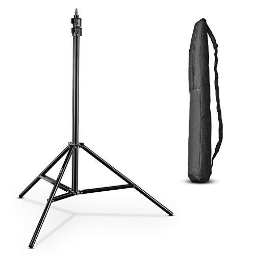 Walimex pro AIR 280 Soporte de luz 280cm - Trípode con suspensión neumática altura máxima 280 cm, carga 6 kg, muy robusto, aluminio, para estudio fotográfico o exterior con bolsa
