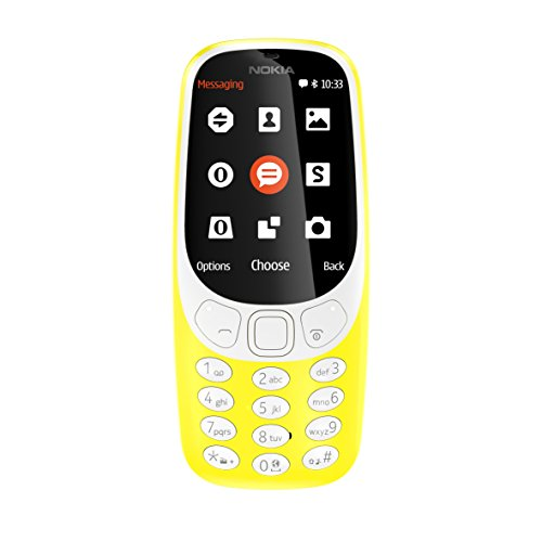 Nokia 3310 - Móvil Libre (Pantalla de 2.4', batería en Stand-by hasta 1 Mes, cámara 2MP con Flash LED), Color Amarillo