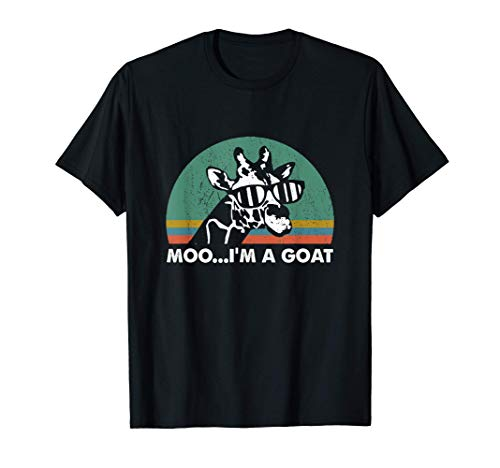 Vintage Moo I'm A Goat Funny Giraffe Zoo T-Shirt