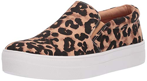 Steve Madden Women's Gills Sneaker, Leopard, 8 M US