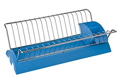 Premier Housewares 0509699 Égouttoir à Vaisselle Amovible en Plastique Bleu/Chromé