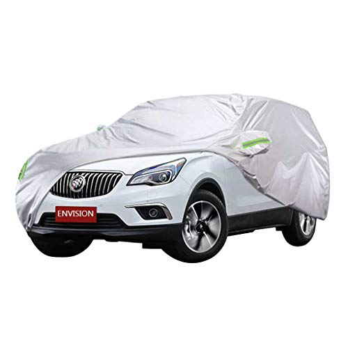 Zfggd Car Cover, Full Automobile Cover, Heavy Duty Fully Waterproof Breathable Cotton Lined All Weather Protection Outdoor Protector Covers Fit Envision SUV Model, Silver (Size : 2018)