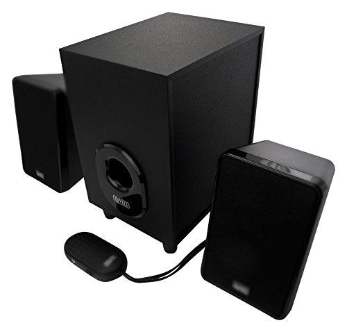 Sweex Design 2.1 Lautsprecher System für Pc Computer Laptop Notebook Gamer Gaming TV Box Boxen mit Subwoofer schwarz Lautsprechersystem