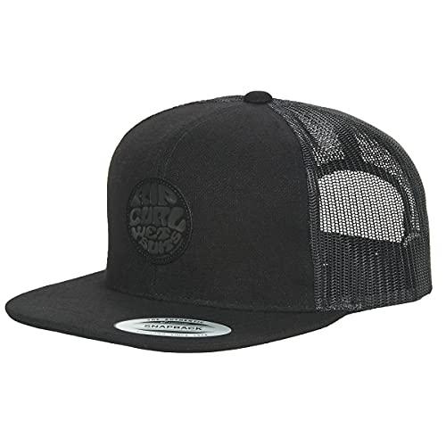 Rip Curl Gorra de camionero Snapback para hombre ~ Premium Wetty Midnight Negro