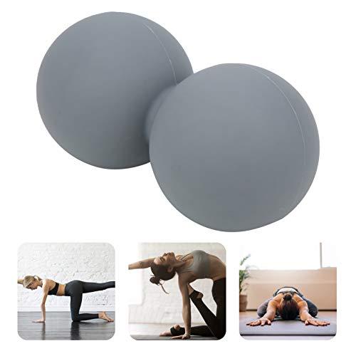 Jacksing Pelota de Entrenamiento de Yoga, Pelota de Masaje de Entrenamiento de Yoga versátil, masajeador de relajación Muscular 2 Piezas para Masaje de Entrenamiento de Yoga Yoga(Grey)