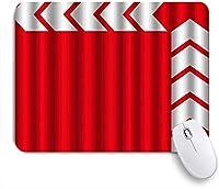 NINEHASA 可愛いマウスパッド 赤い背景方向インジケーターの矢印ベクトル矢印アイコン ノンスリップゴムバッキングコンピューターマウスパッドノートブックマウスマット