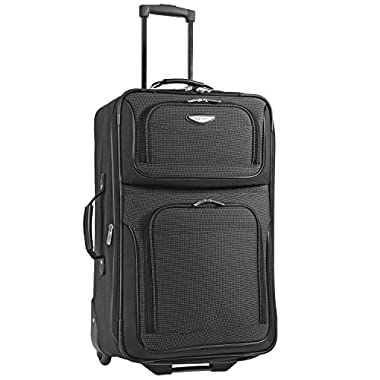 Travelers Choice Travel Select Amsterdam 25-Inch Expandable Rolling Upright, Gray