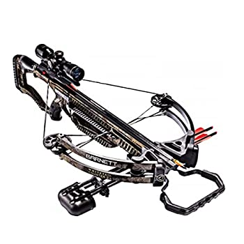 BARNETT Whitetail Hunter II Crossbow   Shoots 350 FPS   Includes 4x32 Scope Rope Cocking Device Light Weight Quiver & Two 20 Inch Headhunter Arrows