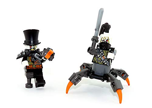 LEGO Ninjago - Juego de 2 figuras de hierro Barón y su amigo de cazadores sin patas con armas