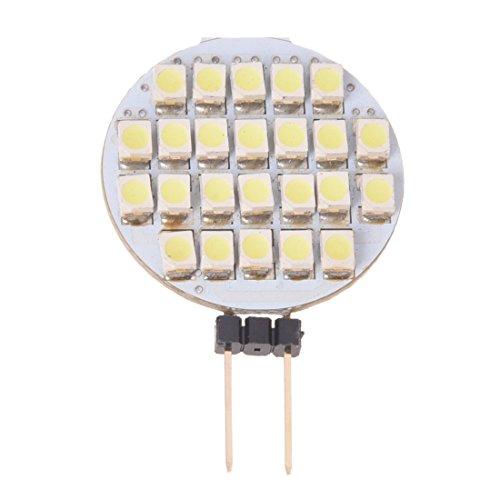 Huante Bombilla de la lampara G4 24 LED 3528 SMD Blanco Puro 2W 12V