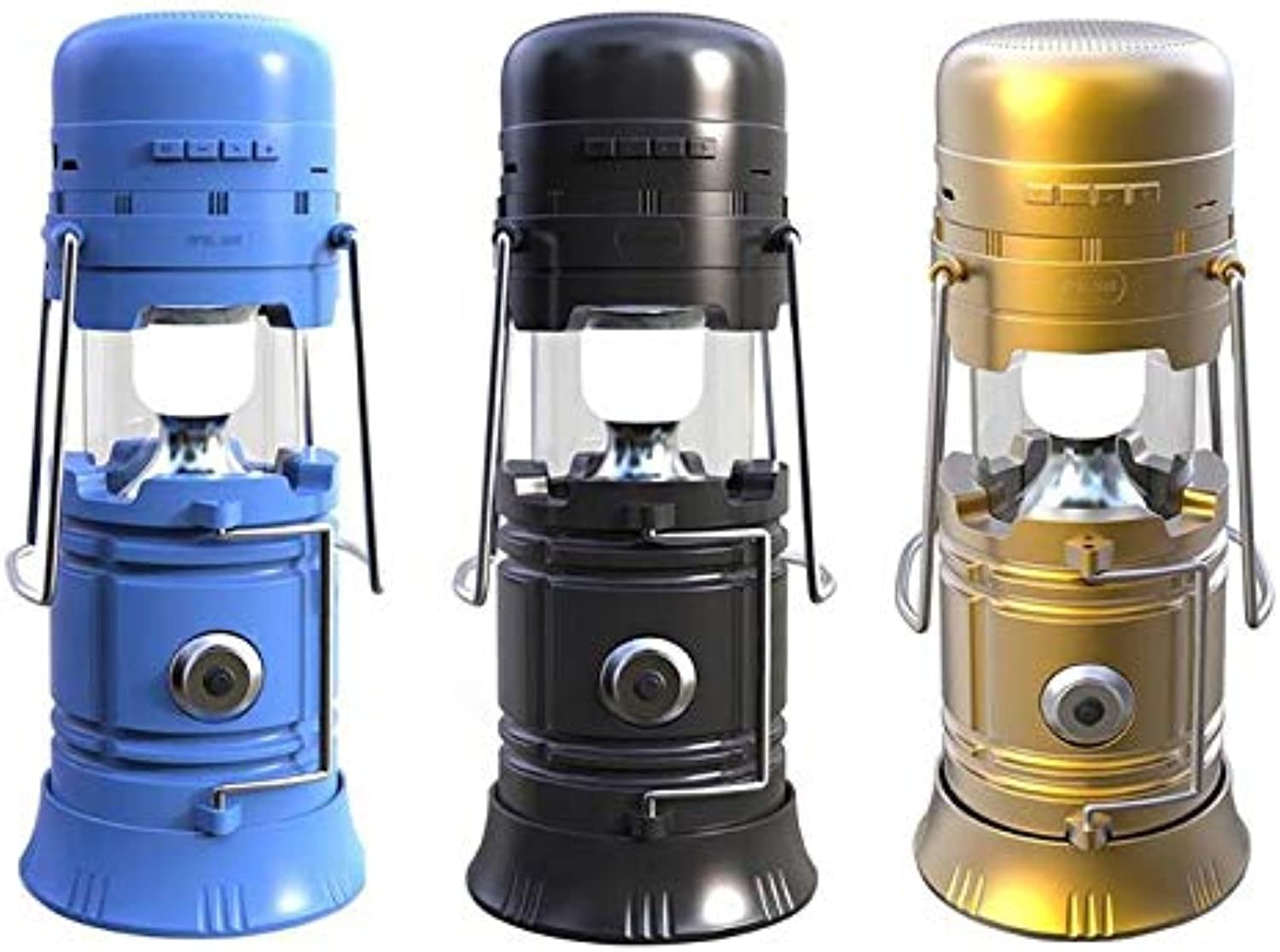 Portable LanternsDc 5v 5w Outdoor Wireless blueetooth Speaker Solar Energy Flashlight TorchLanterns Rechargeable Hausbell Battery Powered Portable