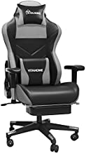 YITAHOME Massage Gaming Chair with Footrest Big and Tall 380lbs Heavy Duty Ergonomic Video Game Chair High Back Office Computer Chair Racing Style with Headrest and Lumbar Support,Black