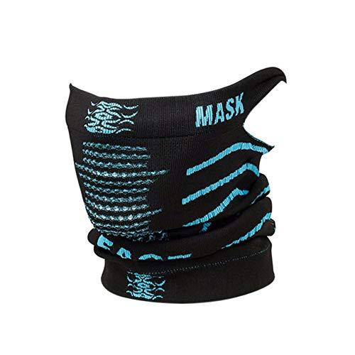 ZXL Bandana Stirnband Mehrzweckschal Snood Elastic Neck Warmer Atmungsaktiver Gesichtsschutz Sommer Sonnenschutz UV-Schutz für das Radfahren im Freien das ganze Jahr über 2 PCS,D