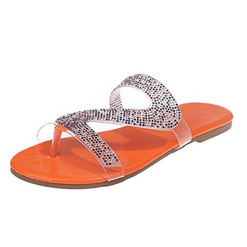 TOPEREUR Damen Riemchensandale, Frauen Sandalette,Sommerschuh,bequem, Mode Flache beiläufige Sandalen Strand Sommer Flache Schuhe