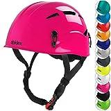 ALPIDEX Casco per Arrampicata de Donna e Uomo Casco Alpinismo en Diversi Colori, Colore:bramble Berry
