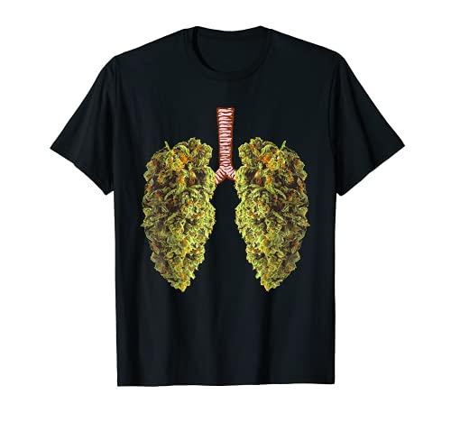 Funny Weed Lung Marijuana Bud T-Shirt - THC Lung TShirt T-Shirt
