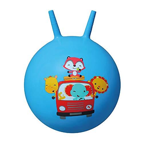 Xyanzi Juguetes para Bebés Bola Saltarina, Bola Inflable De Juguete Infantil para Brincar Y Saltar para Niños De 3 A 6 Años (Bomba Incluida) (Color : Azul)