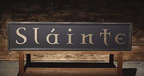 Decorative Wooden Sign Slainte Irish Pub Sign Gaelic Celtic Ireand Home Wall Art Plaque Craft Hanging Wood Sign 6x20 Inch
