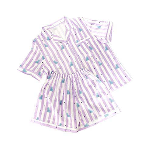 JLTPH KPOP BTS Pijama BTS Bangtan Boys Versión de Dibujos Animados Pijama de Harajuku Camisa de Manga Corto Nighty Hombre Mujer Bedgown Casual Conjunto