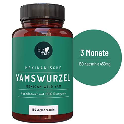 Blomar® Yamswurzel Kapseln hochdosiert - Wild Yams Premium Extrakt mind. 20% Diosgenin · 180 Kapseln á 450mg