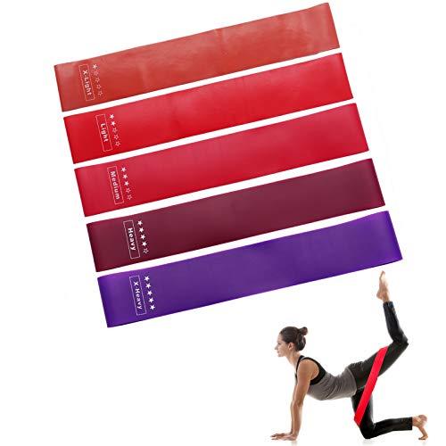 ZongHe - Juego de bandas de resistencia para ejercicio, gimnasio en casa, yoga o pilates, bandas de resistencia, bandas de cadera, muslo, glúteos, tela antideslizante, banda elástica para sentadillas