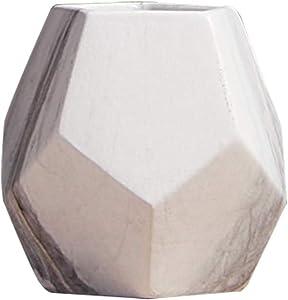 Vosarea jarrón de Flores (cerámica jarrón Decorativo mármol para Interior Escritorio cámara Talla S