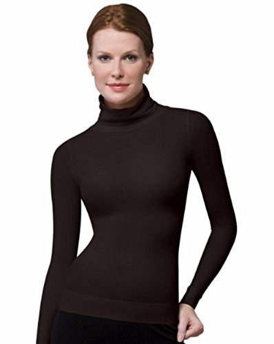 SPANX On Top and in Control Long Sleeve Turtleneck, Bittersweet, Size Large