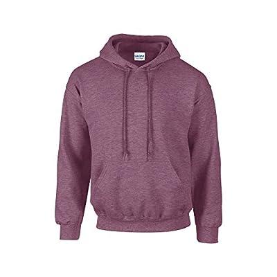 Gildan. Heavy Blend Adult Unisex Hooded Sweatshirt/Hoodie (M, Heather Sport Dark Maroon) from Gildan