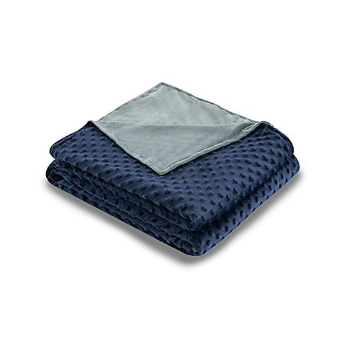Syrinx Duvet Cover for Weighted Blankets (Navy Blue/Dark Grey, 60''x80'')