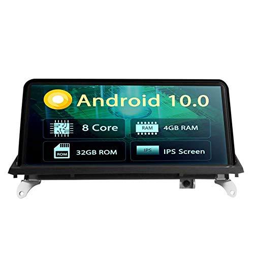 10.25 Pouces Voiture Stéréo CD pour BMW X5 E70 2011 2012 2013 X6 E71 2011 2012 2013 2014 2014 Android 8.1 Radio Auto GPS Navi 3G WiFi Lien Mirror RDS FM AM Pas de DVD